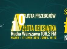 Złota 10 Radia Warszawa - notowanie 50