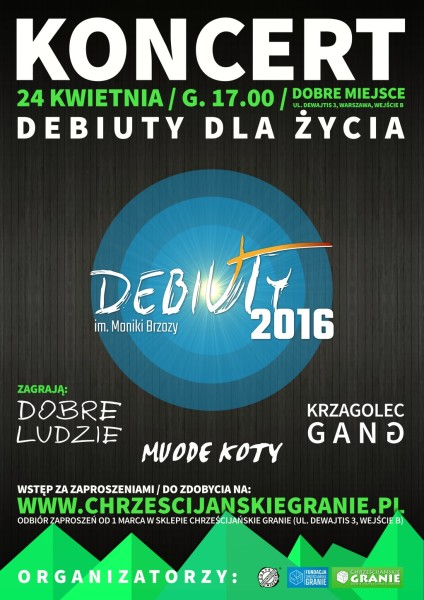 plakat_Debiuty2016_bezpatronow