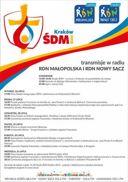 RDN Małopolska i Nowy Sącz - transmisje